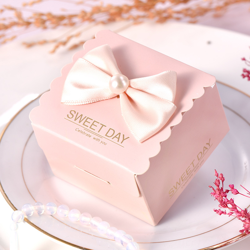 5pcs Wedding Favor And Sweet Gift Bags Packaging Candy Dragee Baptism Box For Wedding Baby Shower Birthday Event Party Supplies