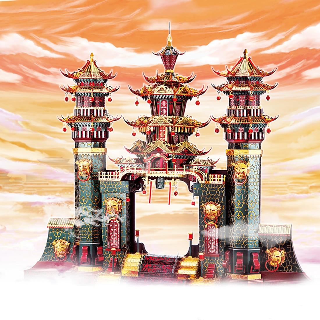 Архитектурная серия Южные ворота , модель, наборы, сделай сам, 3D металлические пазлы, сборная головоломка, игрушка, модель, обучающая игрушка, подарок для детей и взрослых - 3