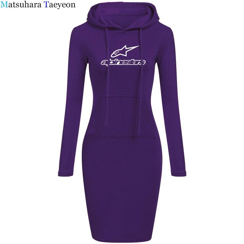 2020 Wome Dress Style Print Star Deep hooded Sexy Dress Women Drift Camisetas Bodycon Dresses