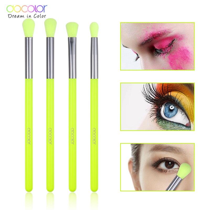 Docolor Makeup Brushes Professional 4pcs Makeup Brushes Set Eye Shadow Blending Eyeliner Eyelash Eyebrow Brush For Makeup Tool