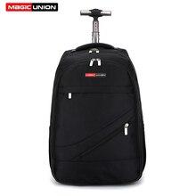 Мужская Дорожная сумка MAGIC UNION, рюкзак на колесиках, Большая водонепроницаемая школьная сумка для книг, дорожная сумка для переноски багажа, чемодан