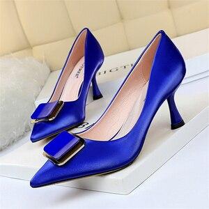 Image 5 - Women Office Shoes Black High Heels Blue Shoes Women Extreme High Heels Black Pumps Women Shoes Fetish High Heels Big Size 43