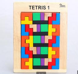 Free shipping Wooden tetris classic assembly blocks, Large geometry assembly building blocks childrens classic educational toys
