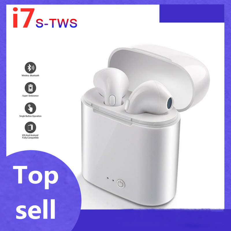 I7 Tws Wireless Bluetooth Earphone Headphone With Mic Charging Box Sport Headset Business Earbuds Handsfree For Smart Phone New