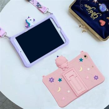 Funda con soporte de dibujos animados para Samsung Galaxy Tab A 8,0 2019 SM-T290 SM-T295 T290 T295 T297 caja fuerte de silicona para Tablet A prueba de golpes para niños