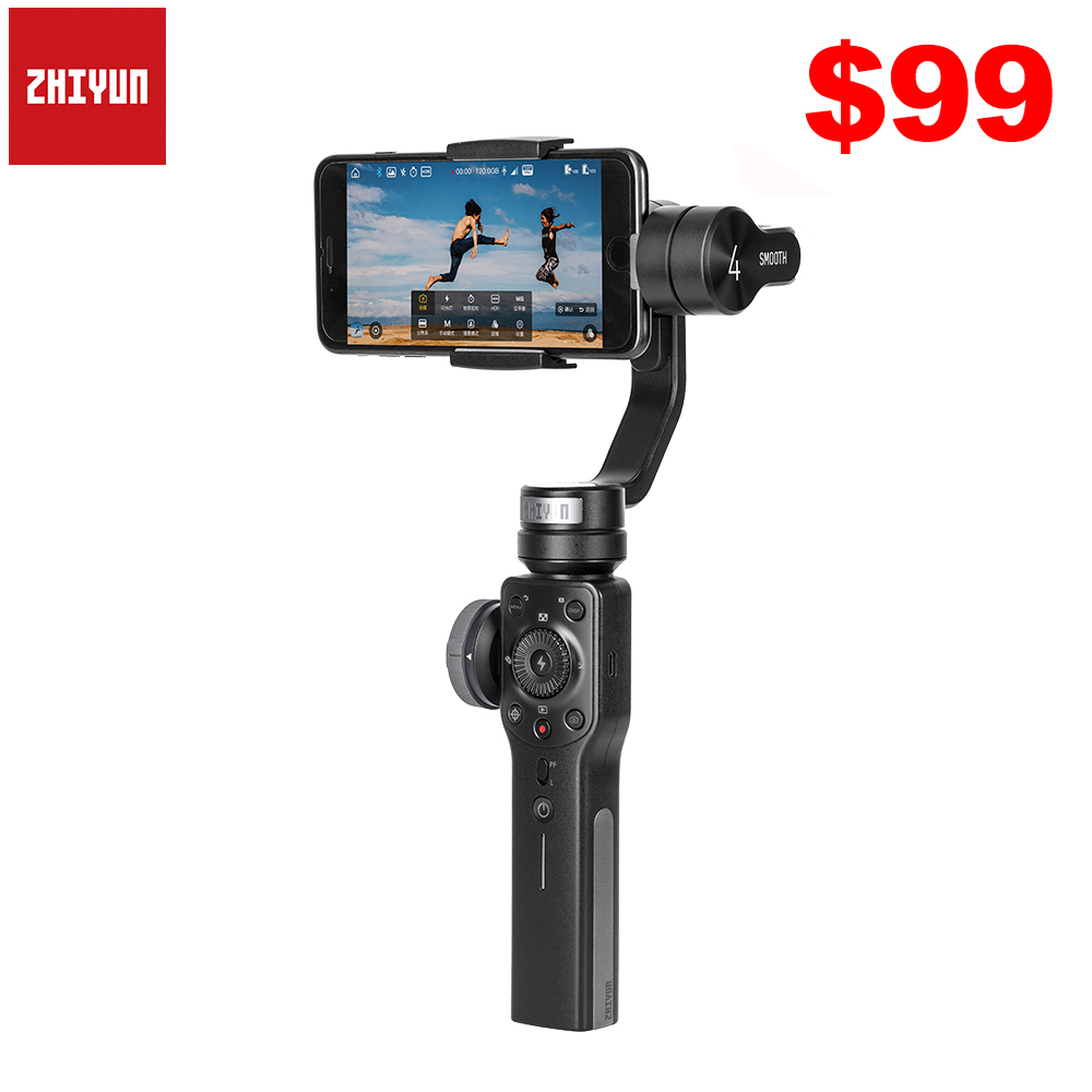 zhiyun smooth q - Zhiyun Smooth 4 Q2 3-Axis Handheld Smartphone Gimbal Stabilizer for iPhone 11 Pro Max XS XR X 8P 8 Samsung S9 S8 & Action Camera