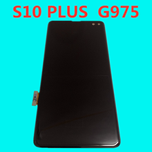 Pantalla AMOLED Original con puntos negros para samsung Galaxy s10 plus, pantalla lcd G975A G975U G975F s10, montaje táctil