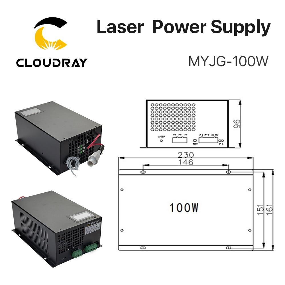 """""""Cloudray"""" 80–100 W CO2 lazerio maitinimo šaltinis, skirtas - Medienos apdirbimo mašinų dalys - Nuotrauka 5"""
