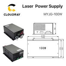 Cloudray 80-100W CO2 Laser Power Supply for CO2 Laser Engraving Cutting Machine MYJG-100W category