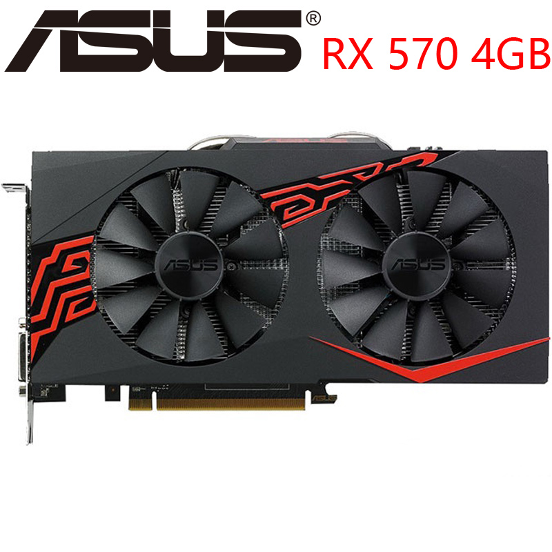 ASUS Video Card RX 570 4GB 256Bit GDDR5 Graphics Cards for AMD RX 500 series VGA Cards RX570 DisplayPort HDMI DVI Used|Graphics Cards| - AliExpress