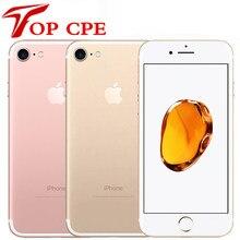 IPhone 7/7 Plus Original libre, teléfono móvil IOS, 32GB/128GB/256GB ROM, cámara de 12.0MP, cuatro núcleos, reconocimiento de huella dactilar