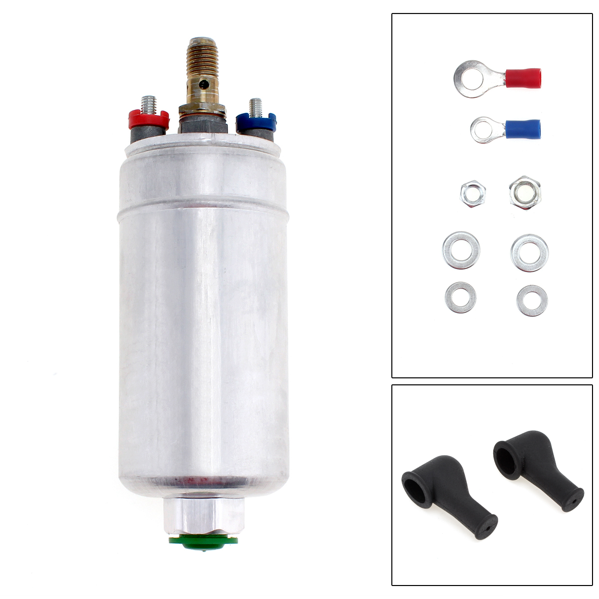 12V Universal Metal External Inline 300LPH Fuel Pump Replacement with 72.5 PSI Suitable forFerrari / Mitsubishi / Porsche|fuel pump|fuel pump replacementinline fuel pump - title=