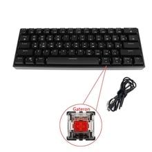GK61 SK61 61 клавиша механическая клавиатура USB проводной светодиодный подсветкой ось игровая механическая клавиатура для настольных компьютер...