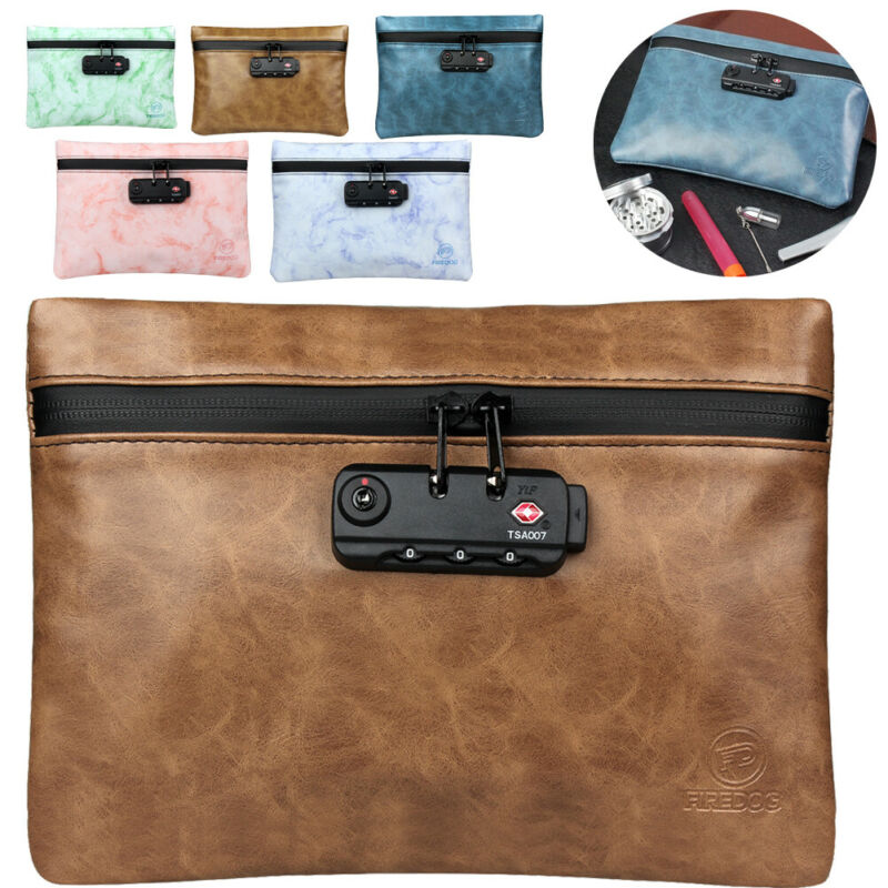 Activated Carbon Waterproof Deodorant Bag Multifunction Password Lock Makeup Document Storage Bag Briefcase Travel Organizer