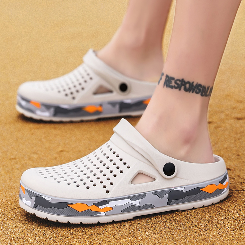 Men/'s Breathable Beach Sandals Garden Hole Shoes  Slippers New summer SD054