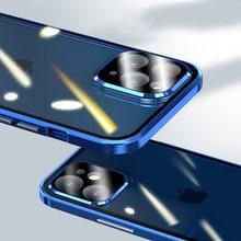 Caméra magnétique en métal protection pour iPhone 12 Pro Max 12 Pro Mini étui Fundas coque Double face verre étuis de téléphone couverture de luxe