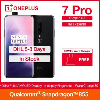 "New Global ROM Oneplus 7 Pro 8/6/12GB RAM 128/256GB ROM 6.67"" 90 Hz UFS 3.0 Triple Camera 48MP Snapdragon 855 Warp Charge 30W"
