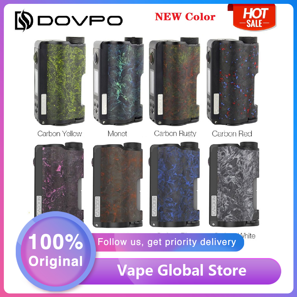 DOVPO Topside Dual Carbon Squonk Mod With YIHI Chip Suit Dual 18650 Battery Max 200W E-cig Box Mod Vs Drag 2/ Double Barrel V3