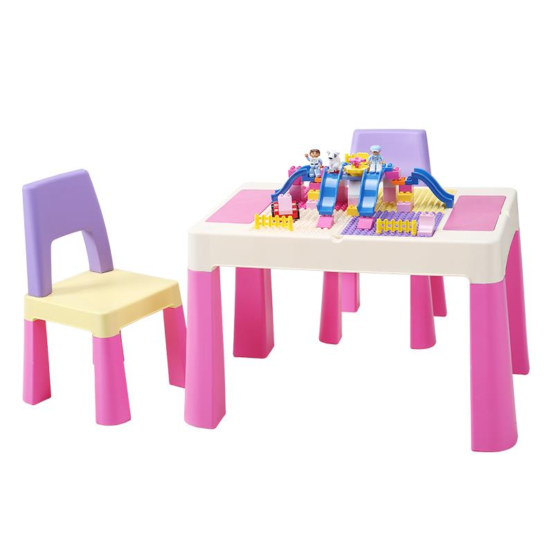 H1 Game Table Toy Table Kindergarten Children Table And Chair Set Baby Multi-function Plastic Writing Study Table Kids Table