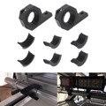 Черный от 15 до 30 мм анти-столкновения бар ограждение мотоцикла противотуманный светильник приспособление для прожектора светильник кроншт...