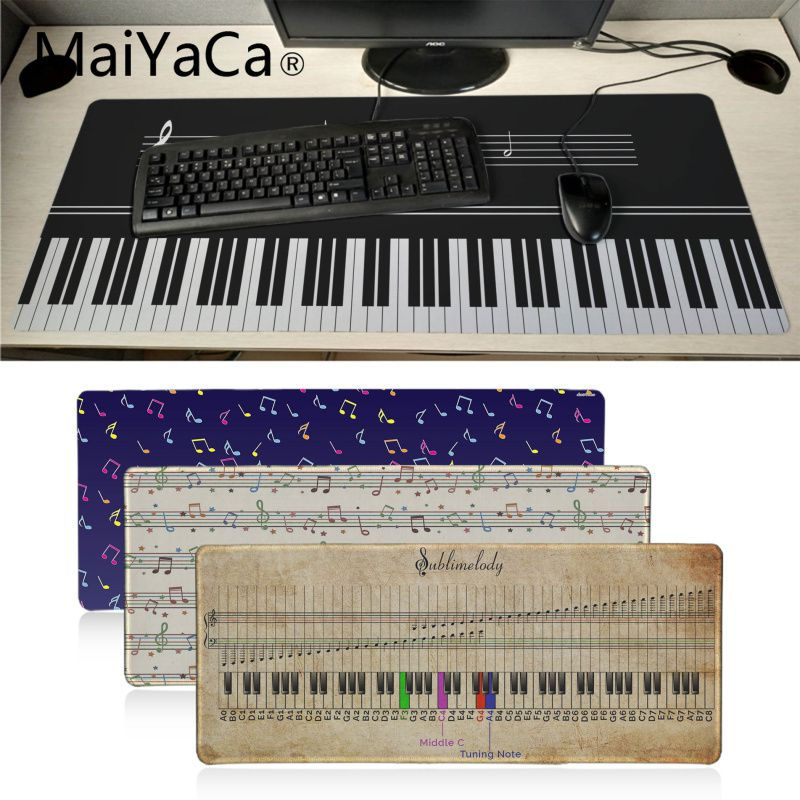 MaiYaCa Vintage Piano Notes Laptop Gaming Mousepad Big Promotion Russia Gaming Mouse Pad Xl Keyboard Laptop PC Notebook Desk Pad