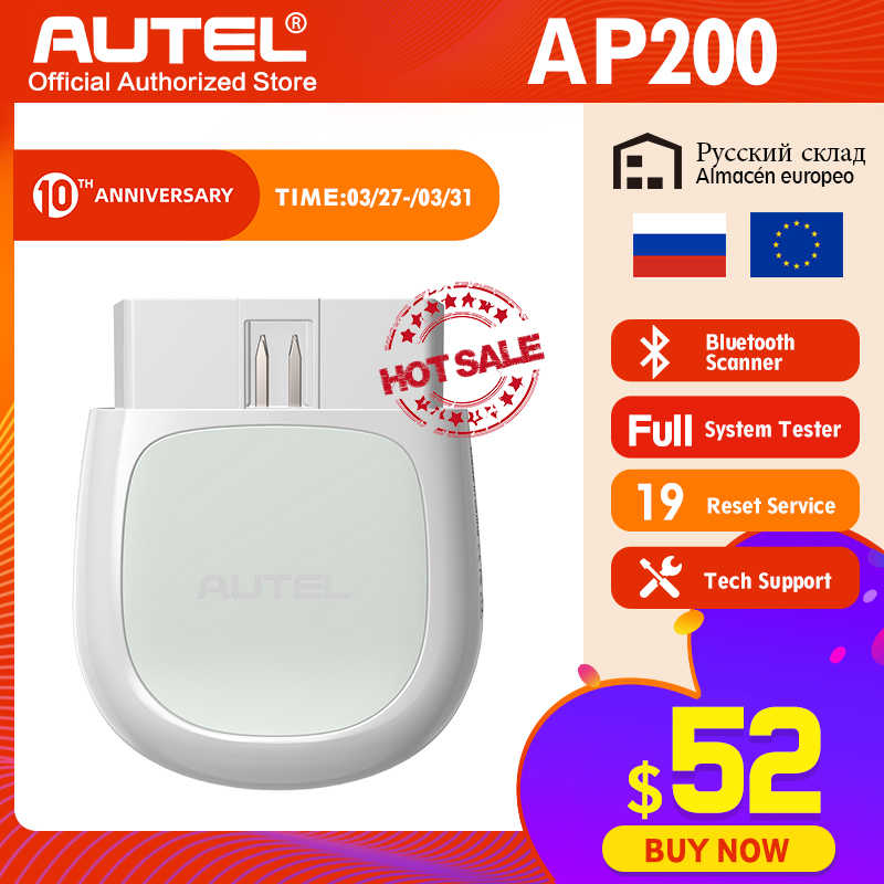 Autel AP200 Bluetooth OBD2 Scanner Code Reader Met Volledige Systemen Diagnoses Autovin Tpms Immo Service Voor Familie Diyers Pk Mk808
