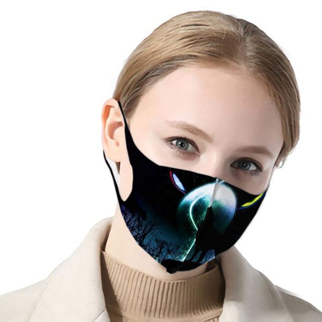 3d Print Wolf Anti Haze Dust Washable Reusable Double Layer Dustproof Winter Wolf Mask Mouth Antiviral Mouth Mask 5