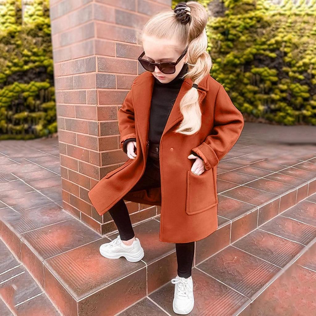 casaco infantil crianças menina quente bolso moda outwear outono jaqueta