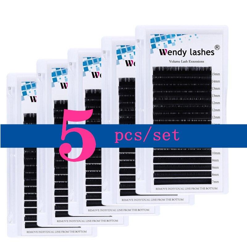 5 шт./лот наращивание ресниц 16 рядов классические накладные ресницы оптовая продажа натуральный из норковые пучковые ресницы, инструменты д...