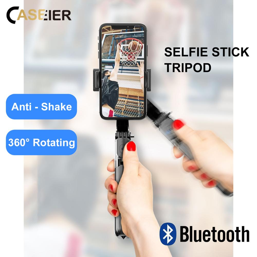 CASEIER Anti Schütteln Bluetooth Selfie Stick Stativ Wireless Remote 360 Rotierenden Gimbal Stabilisator Für iPhone Xiaomi Samsung Huawei