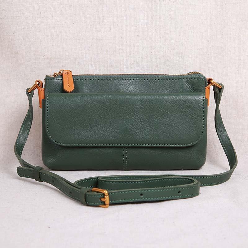 The new mini bag Baotou layer leather art and temperament shoulder bag crossbody