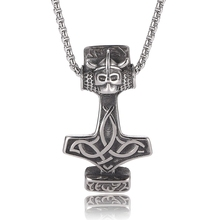 Men stainless steel viking amulet pendant necklace Personalized  norse gift BB0423
