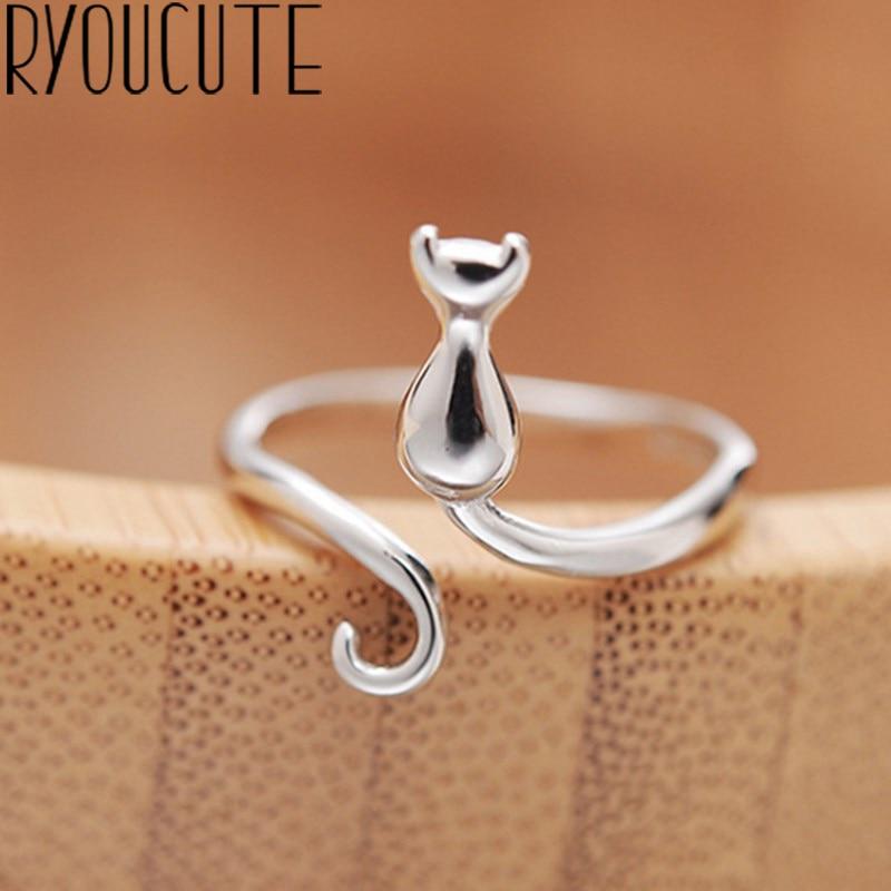 Boho nuovo affascinante anello da dito grande gatto per donna Vintage Knuckle Party Rings Gothic Punk gioielli regali per ragazze 2021
