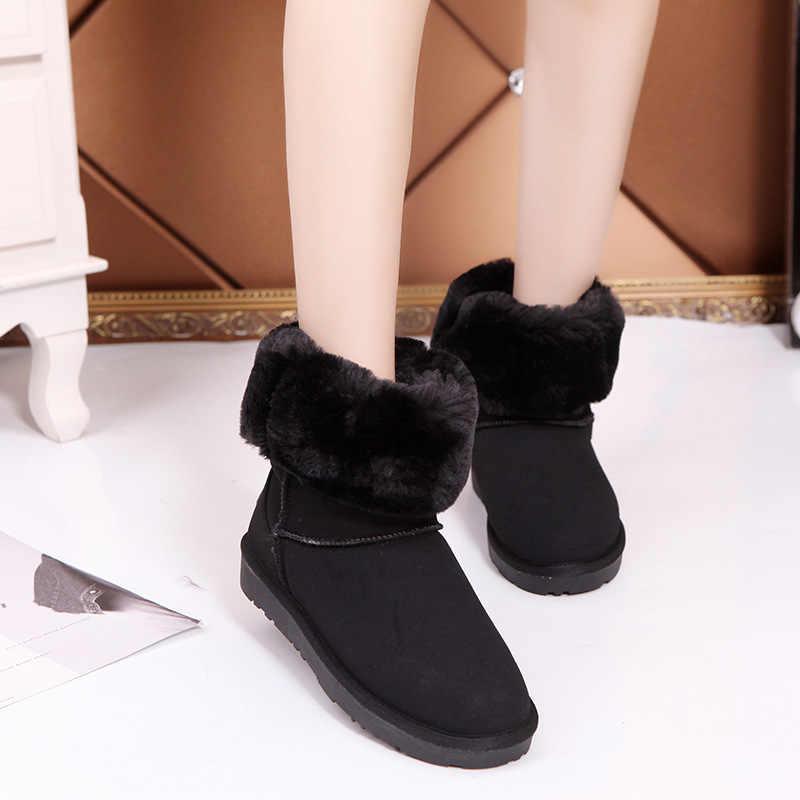 Stijl Dunne Hoge Vrije Tijd Warm Houden Antislip Vrouw Laarzen Schoenen