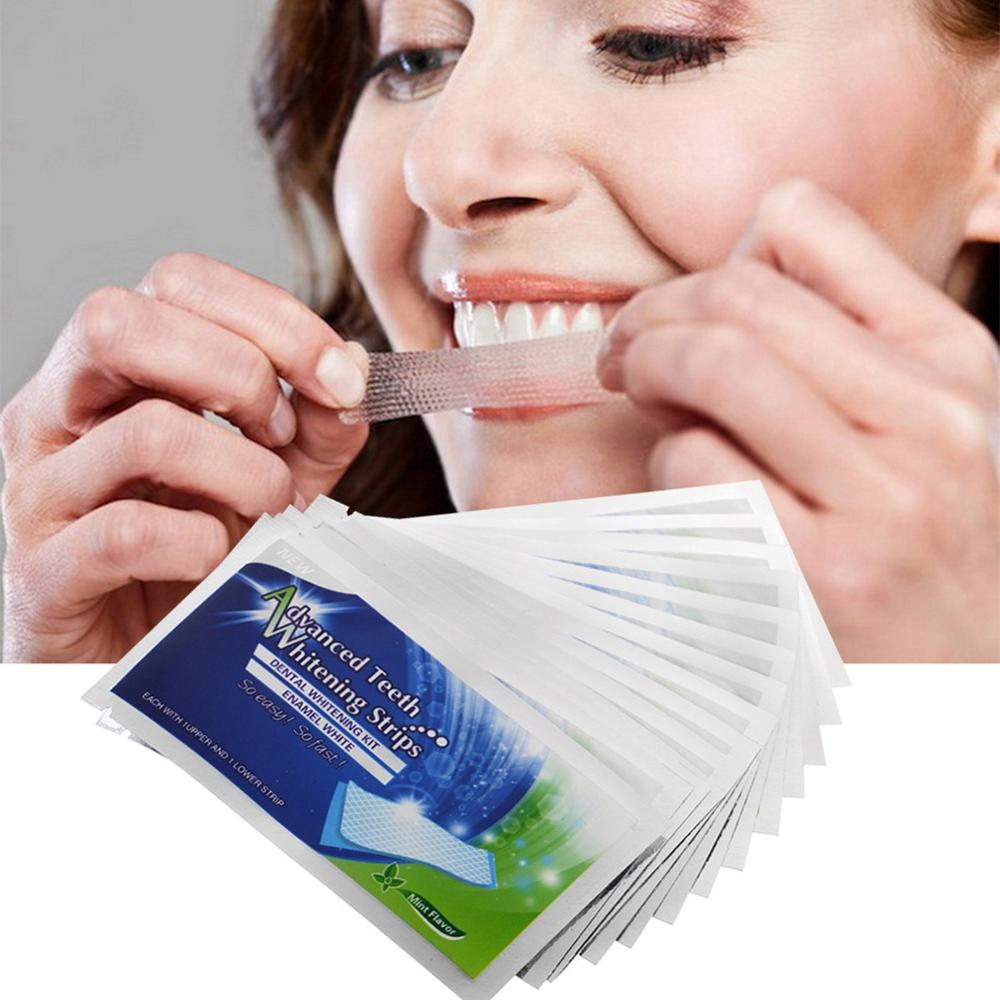 14/28PCS 3D Teeth Whitening Patches Portable Teeth Whitening Strips Remove Tooth Yellow Stain Fresh Breath Oral Hygiene Care