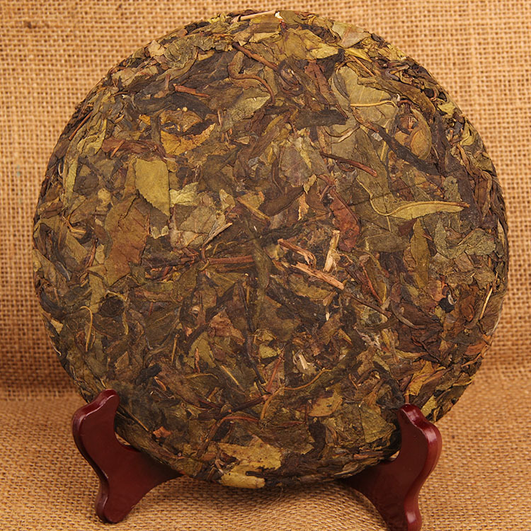 357g China Yunnan Raw Tea Ancient Tree Pu'er Tea Linyi Gold Leaf Green Food for Health Care Lose Weight 2