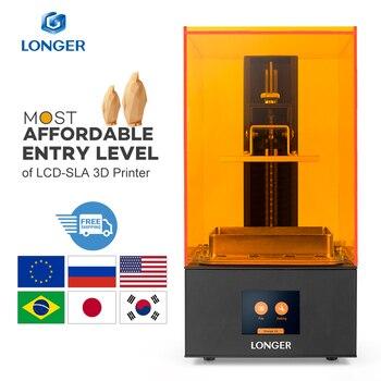 Longer Orange 10 LCD 3D принтер доступный SLA 3D принтер металлический корпус Улучшенный z-осевой смарт-поддержка УФ-полимерный принтер 3D Printer 3д принтер ...