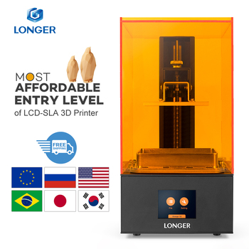 Longer Orange 10 LCD 3D Printer Affordable SLA 3D Printer Metal Body Improved Z-Axis Smart Support  UV Resin Printer