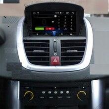Autoradio Android 10.0, DSP, Navigation GPS, DVD, lecteur multimédia, unité centrale, enregistreur, stéréo, pour voiture Peugeot 207 (2008 – 2014)
