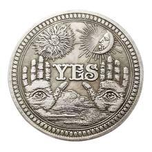 예 또는 아니오 두개골 기념 동전 기념품 도전 Collectible Coins Collection Art Craft M68E