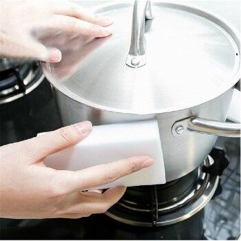 10PCS 10*6*2cm  Melamine Sponge Magic Eraser Cleaner Eco-Friendly White Kitchen Hot Sale D