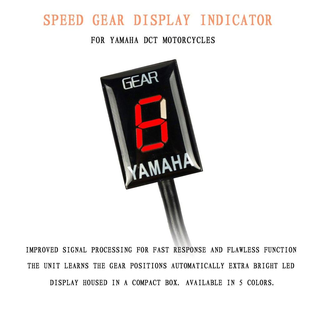 Indicador de pantalla de engranajes de velocidad para Yamaha xjr 1300 fjr 1300 FZ8 R1 FZ16 Fz1 MT03 R6 Xj6 montaje de enchufe Ecu para motocicleta 1-6 niveles