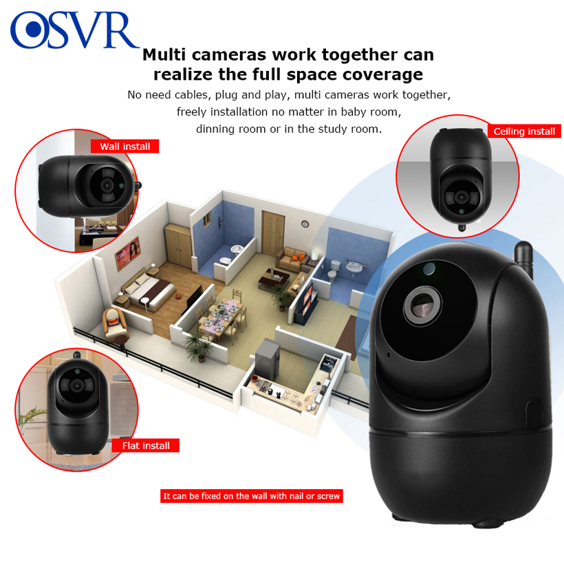 HD 1080P Cloud IP Camera WiFi Wireless Smart Auto Tracking Of Human Home Security Surveillance CCTV Network Camera Baby Monitor