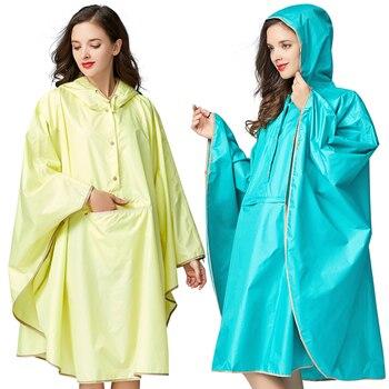Fashion Womens Rain Coat  Raincoat and Hat Cape Rain Clothes Women's and Women's Wind Cloth Backpack  Rain Coat Girls 60yy105