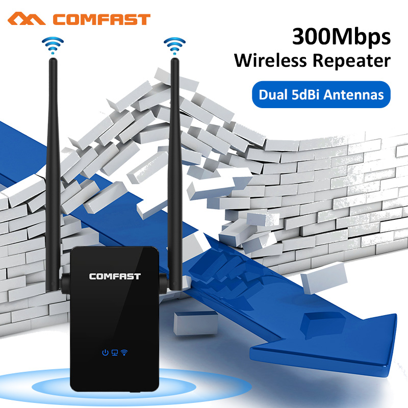 Comfast CF-WR302SV2 Strong Signal WI FI Amplifier Router 300M Wireless Wi-Fi Repeater Network Router 10dbi Antenna Wifi Access