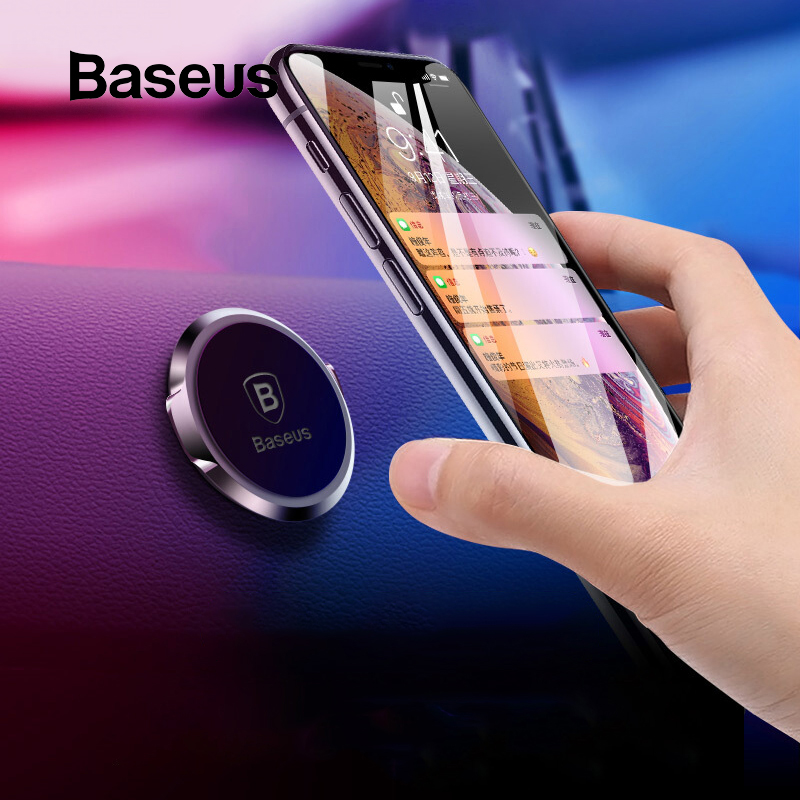Baseus Magnetic Car Holder Universal Phone Holder In Car For IPhone Xs Samsung S10 Xiaomi MI 9 Magnet Mobile Phone Holder Stand