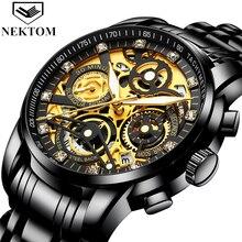 NEKTOM Relogio Masculino Wrist Watches Men 2019 Top Brand Lu