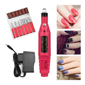 ATOMUS Electric Manicure Nail Machine Drill Bits Milling Adjustable Speed 20000 RPM Gentle Polishing Art Pen Professional Kits