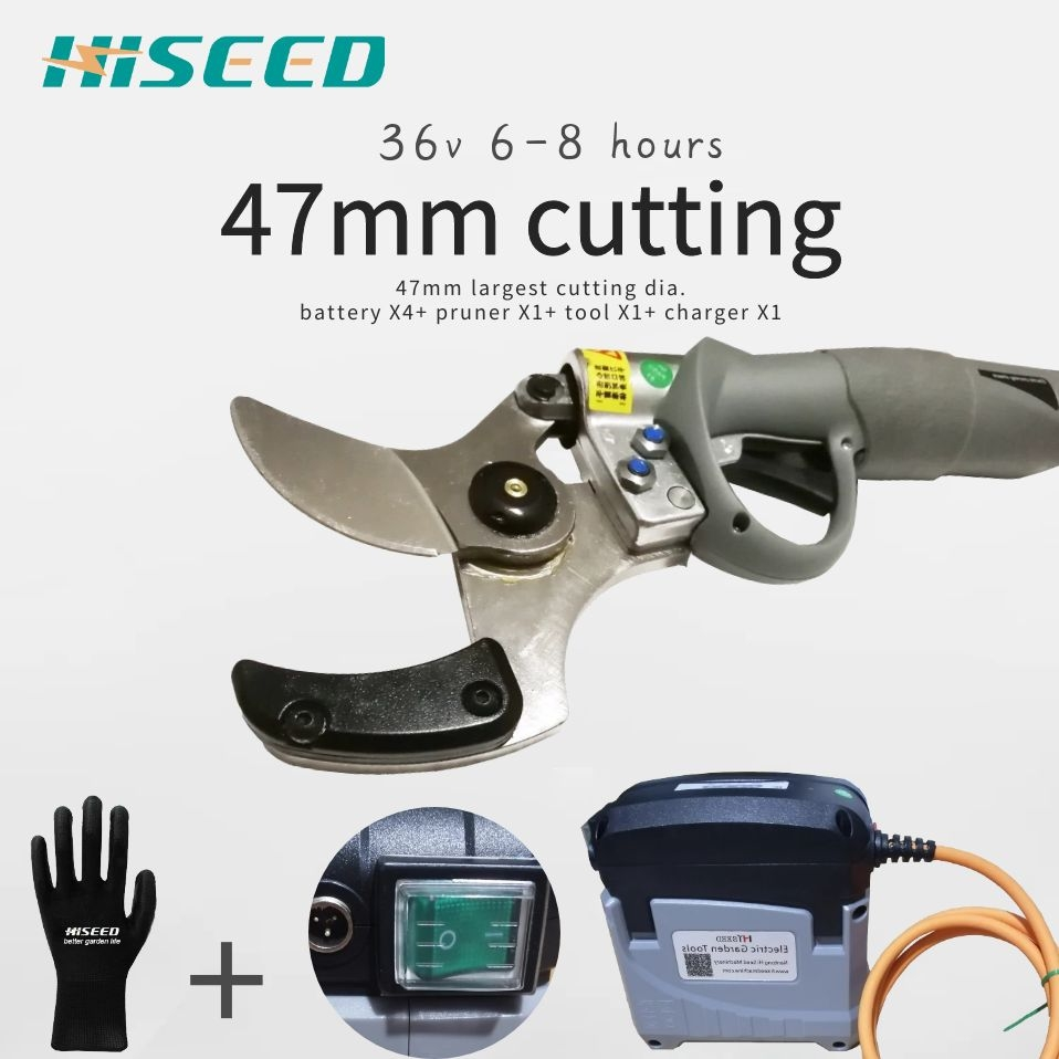 47mm Large Cutting Eletric Secateurs, Battery Pruner, Orchard Pruning Shears