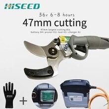 47mm o maior diâmetro de corte tesoura de poda elétrica, tesouras elétricas energia secateurs 1.77 polegada ce 6 10 horas de trabalho
